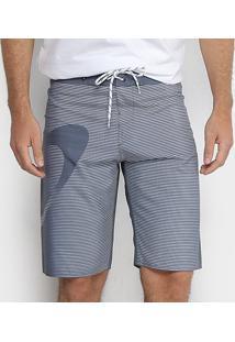 Bermuda Oakley Faded Stripes Boardshorts Masculina - Masculino-Cinza