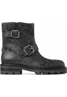 Jimmy Choo Ankle Boot Com Fivela Youth Ii - Cinza