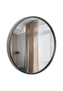 Espelho Decorativo Round Externo Preto 50 Cm Redondo