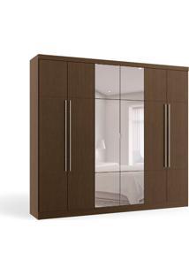 Guarda-Roupa Casal Com Espelho Hera 6 Pt 3 Gv Jacarandá