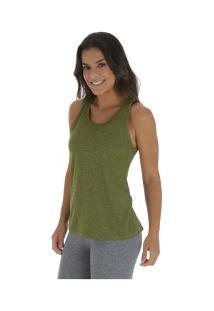 91f4d9dcad ... Camiseta Regata Oxer Longa Aero - Feminina - Cinza Verde Cla