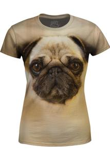 Camiseta Baby Look Pug Over Fame Bege