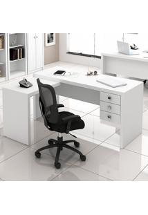 Mesa Para Computador Com 3 Gavetas Me4106 - Tecno Mobili - Branco