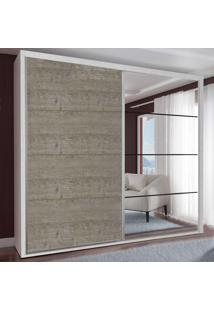 Guarda-Roupa Casal 2 Portas Com 1 Espelho 100% Mdf 1911E1Ca Branco Tx/Demoli - Foscarini