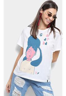 Camiseta Cantão Estampa Good Hair Feminina - Feminino-Off White