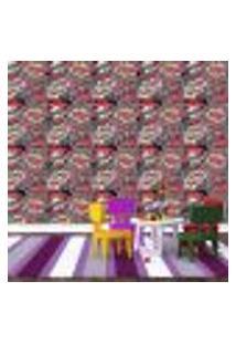 Papel De Parede Adesivo - Quadrinhos - Gibi - Vermelho - 147Ppi