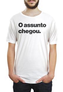 Camiseta Hunter O Assunto Chegou Branca