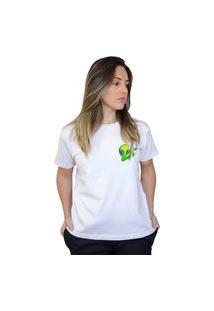 Camiseta Boutique Judith Alien Boss Branco