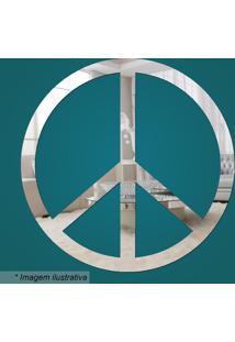 Espelho Paz & Amor- Espelhado- 45X30X5Cm- Cia Lacia Laser