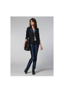 Calca Skinny Jeans Com Tweed