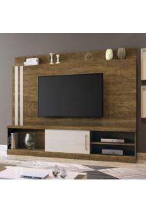 Estante Home Para Tv Até 65 Polegadas 1 Porta 1 Prateleira 3 Nichos Mavaular Canion/Off White
