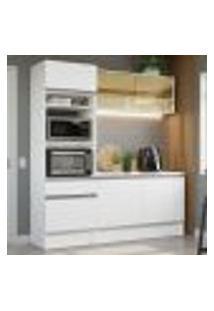 Cozinha Compacta Madesa Diamante Com Armário, Balcão E Tampo - Branco