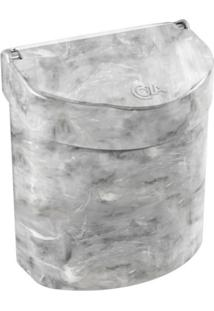 Lixeira Para Pia 2,7L Glass Cinza Coza