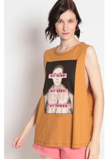 "Blusa ""My Power""- Amarelo Escuro & Malva- Sommersommer"