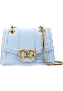 Dolce & Gabbana Bolsa Transversal Dg Amore - Azul