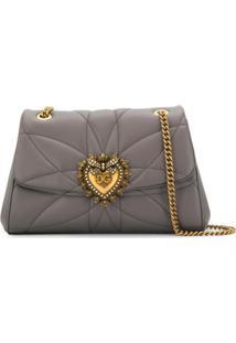 Dolce & Gabbana Bolsa Tiracolo Devotion - Cinza