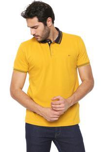Camisa Polo Aramis Logo Amarela