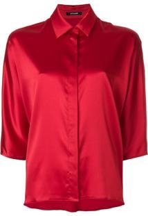 92fd4314da ... Styland Camisa Com Mangas 3 4 - Vermelho