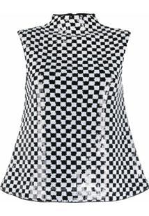 Emporio Armani Blusa Sem Mangas Com Aplicação De Paetês - Branco