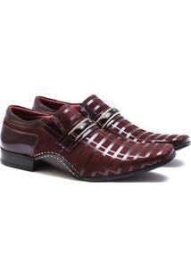 Sapato Social Couro Calvest Masculino - Masculino-Bordô
