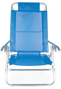 Cadeira Reclinável Alumínio 5 Posições Sortida Azclaro