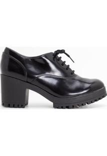 Sapato Feminino Oxford Tratorado Satinato