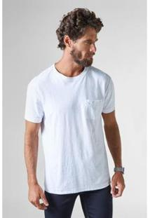 Camiseta Reserva C/ Bolso Flame Estonada - Masculino-Branco