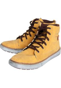Bota Fiveblu Pespontos Amarelo
