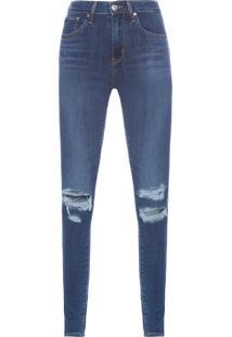 Calça Feminina 721 High Rise Skinny - Azul