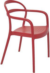 Cadeira Sissi- Vermelha- 80,5X57X54Cm- Tramontintramontina