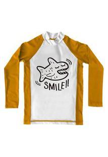 Camiseta De Lycra Comfy Smile Amarela