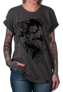 Camiseta Artseries Caveira End Of Lines Cinza