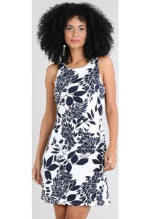 7cd1cd2b0920 R$ 89,99. CEA Vestido Feminino Estampado Floral Decote Redondo Off White