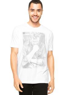 Camiseta Vila Romana Estampada Branca