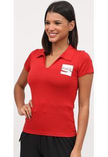 Blusa Com Glitter- Vermelha & Branca- Coca-Colacoca-Cola