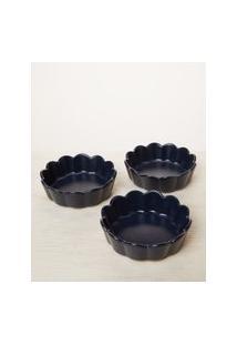 Amaro Feminino Jogo 3 Peças Bowls De Porcelana, Azul