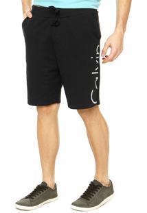 Bermuda Calvin Klein Jeans Reta Preta