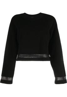 Barrie Suéter Cropped - Preto