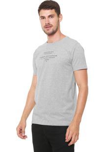 Camiseta Yachtsman Manga Curta Lettering Cinza