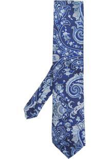 Etro Gravata De Seda - Azul
