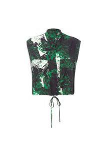 Blusa Feminina Floresta Cheia - Verde