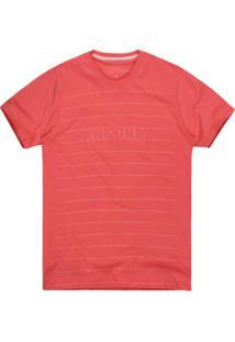 Camiseta Masculina Listras Khf Dnm Coral
