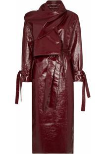 Aleksandre Akhalkatsishvili Trench Coat Com Detalhe De Lenço - Vermelho