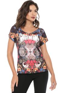 Camiseta Carmim Print Preta