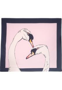Lenço Cisne Rosa - Rosa