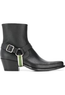 Calvin Klein 205W39Nyc Ankle Boot Texturizada - Preto
