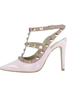 Scarpin Salto Alto Week Shoes Inspired Rosa Claro Spykes