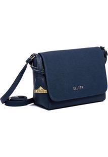 Bolsa Selten Transversal Feminina - Feminino-Azul Escuro