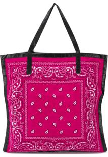 Arizona Love Bolsa Tote Com Estampa Paisley - Rosa