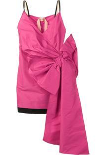 Nº21 Vestido Com Detalhe De Laço Mini - Rosa
